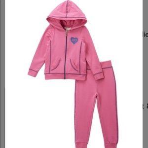 Pink & Navy heart hoodie & sweatpants